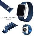 Para a apple watch bandas iwatch milanese pulseira fecho magnético pulseira de luxo clássico com adaptador do conector