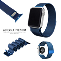Para apple watch bandas iwatch milanese correa de cierre magnético de lujo clásico con adaptador de conector