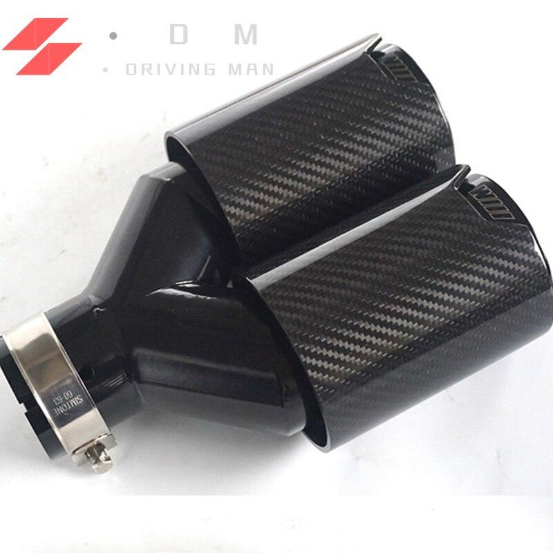 1 PC en 2.48 pouces OD 3.50 pouces Style Y et Hstyle M performance double extrémité de voiture noire embouts pour BMW Series
