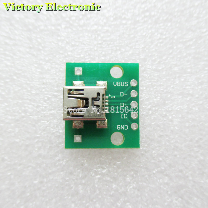 5PCS/Lot Mini USB To DIP Adapter Converter For 2.54mm PCB Board DIY Power Supply USB-02 New Wholesale