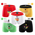 Man Cartoon Underpants Ventilation Cotton Sexy Middle-rise Boxers Men's Underwear