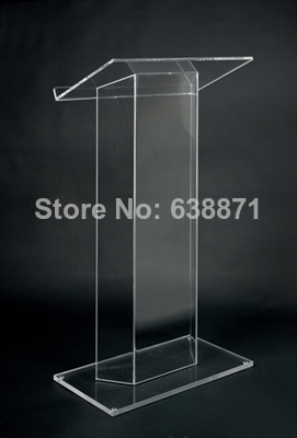 Free Shipping High-end Atmosphere Floor Standing Transparent Acrylic Lectern Podium