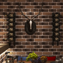 Photo Wallpaper 3D Embossed Retro Brick Wall Stone Wallpapers Cafe Restaurant Living Room TV Sofa Backdrop Home Decor PVC Tapety