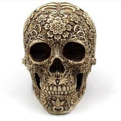 Fashion Skull Model Statue Gothic Sculpture Handicraft Horror Home Halloween Decoration Human Model Art Gift 301-0732
