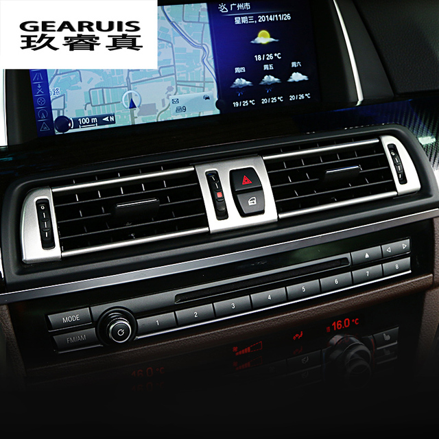 b8316018e48 Car styling Navigation Control Panel air conditioner outlet Decorative  Frame Cover Trim for BMW 5 series
