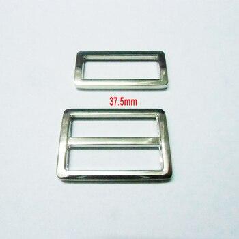 """1.5"""" Silver nickel triglide slider & buckle for adjustable straps"""