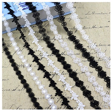 1cm-2cm narrow side lace accessories sofa curtain skirt decoration water soluble hollow fabric tassel