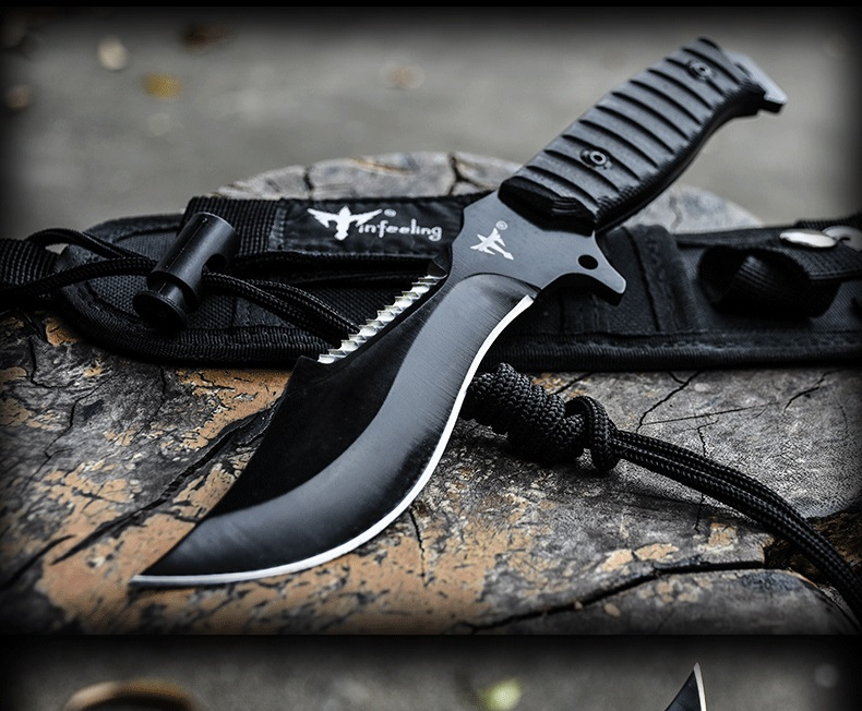 Voltron High hardness self-defense outdoor knife, wild survival saber, camping hunting survival straight knife