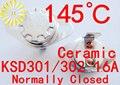 KSD302 16A 145 градусов Керамические 250 В KSD301 Нормально Замкнутый Переключатель Температуры Термостат х 10 ШТ. БЕСПЛАТНАЯ ДОСТАВКА