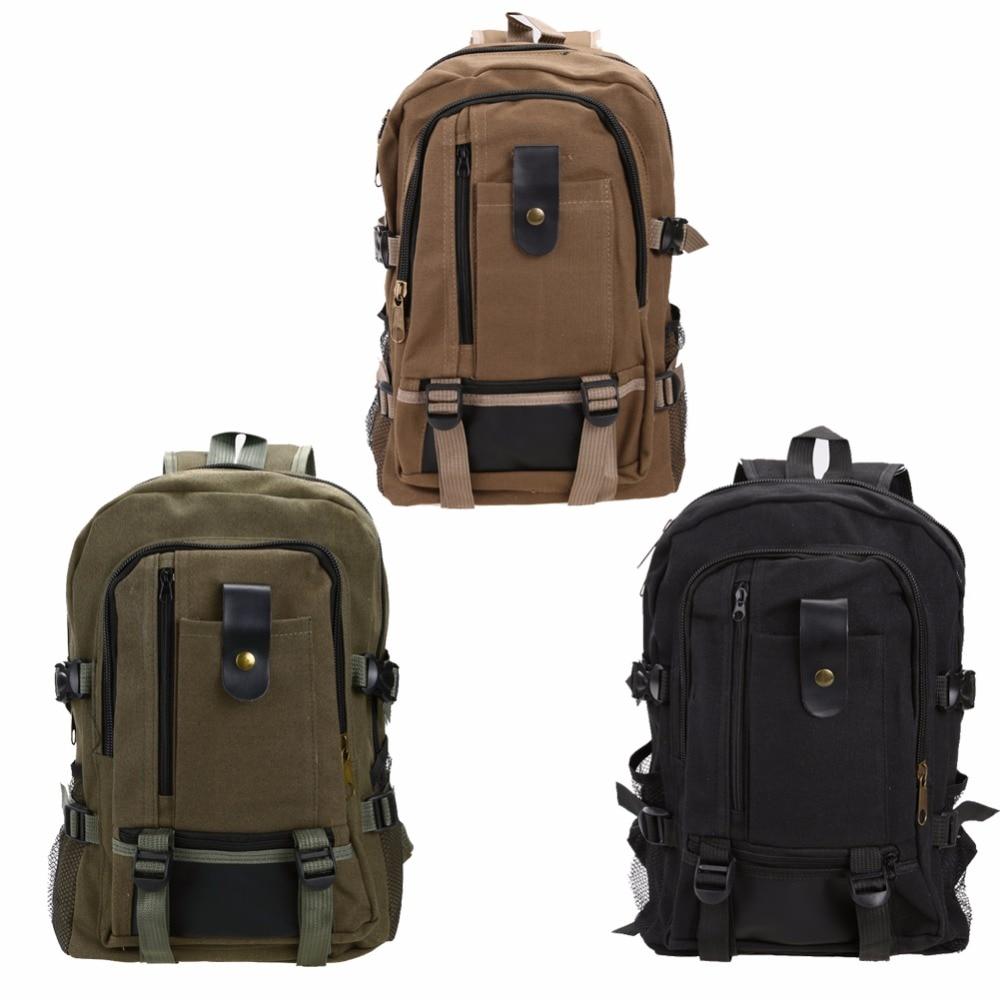Men Women Mountaineering Backpack Canvas Sport Bags Schoolbag Travel Rucksack Outdoor Camping Hiking Backpack Large Storage Bag