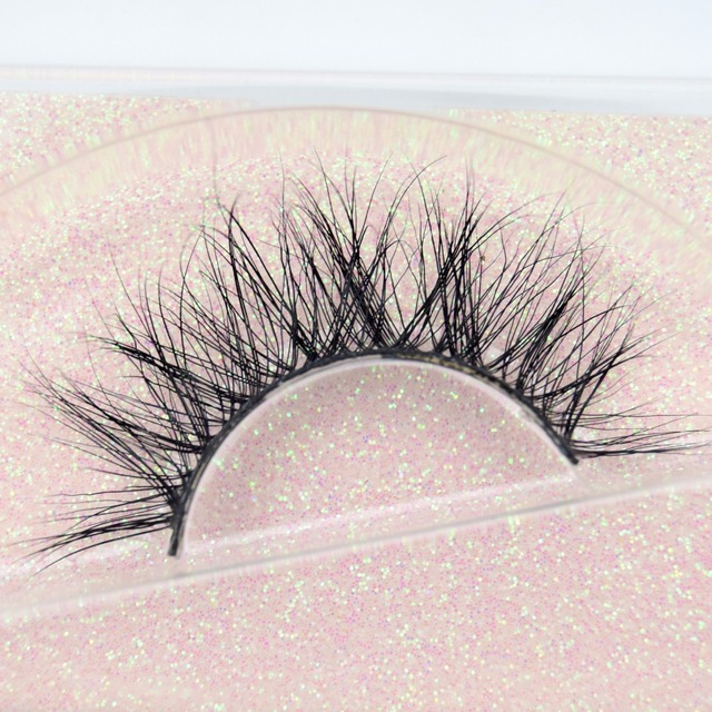 Mink Eyelashes Hand Made Crisscross False Eyelashes Cruelty Free Dramatic 3D Mink Lashes Long Lasting Faux Cils for Makeup Tools 4