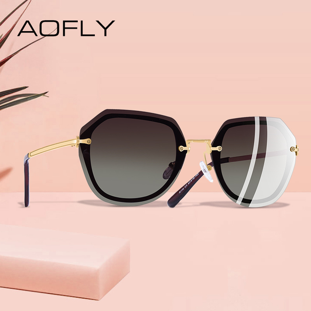 AOFLY DESIGN Fashion Women Sunglasses Vintage Retro Gradient Polarized Sun glasses Female Summer Style BRAND Shades Gafas A110