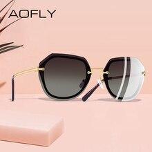 Aofly Ontwerp Mode Vrouwen Zonnebril Vintage Retro Gradiënt Gepolariseerde Zonnebril Vrouwelijke Zomer Stijl Merk Shades Gafas A110