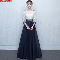 DongCMY New Long Formal Evening Dresses Beading Fashion Robe De Soiree Vestidos Prom Plus Size Gowns