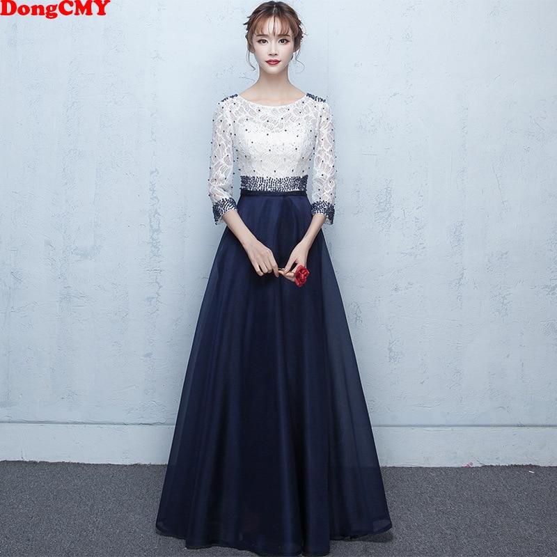 DongCMY nouvelles longues robes De soirée formelles perles mode Robe De soirée robes De bal robes De grande taille