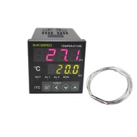 Inkbird Digital LED Screen PID Temperature Controller on/off Thermostat Ac 100 240V ITC 100RH with PT100 Thermocouple