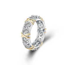 Inlaid Zircon Close Diamond Ring 14K Yellow Gold for Women Luxury Jewelry trendy Hoop Anelli joyas de peridot Gemstone