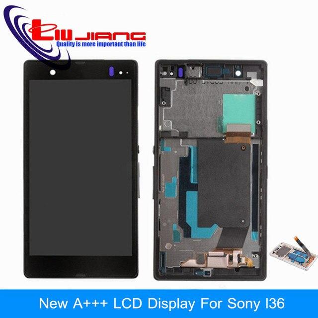 Tela lcd original para sony xperia z l36 l36h l36i c6603 c6602 Com Touch display Digitador Assembléia quadro Dom gratuito grátis