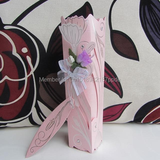 60 Pcs Lot Latest Design Pink Color Luxury Handmade Roll Wedding