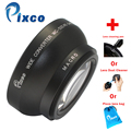 New Black Wholesale Retail Pixco 52mm 0.45X Wide Angle lens with macro + with cleaning Pen/ with dust cleaner /with lens bag