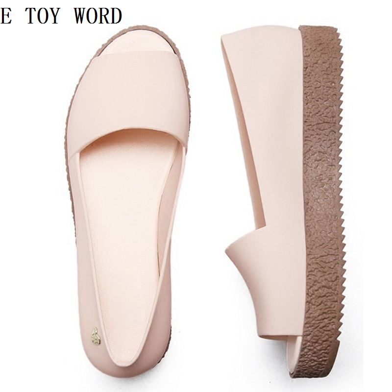 ETOYWORD The new 2018 hole hole shoes female summer beach jelly gradient pregnant women antiskid flat sandals, slippers and fish women slippers wholesale fashion lovers hole shoes garden nest female models sport sandals hole sandals