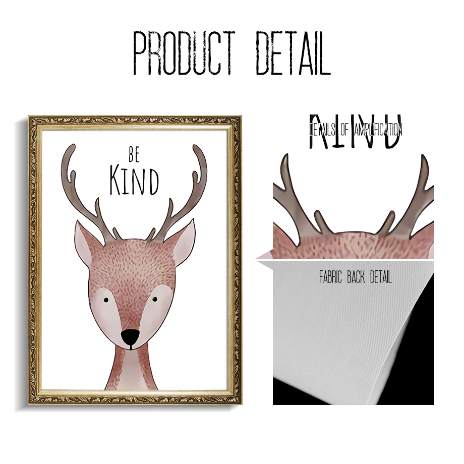 Watercolor Deer Fox Raccoon Quote Nursery Wall Art Print Canvas Painting Nordic Posters And Prints Wall Pictures For Living Room in Painting Calligraphy from Home Garden