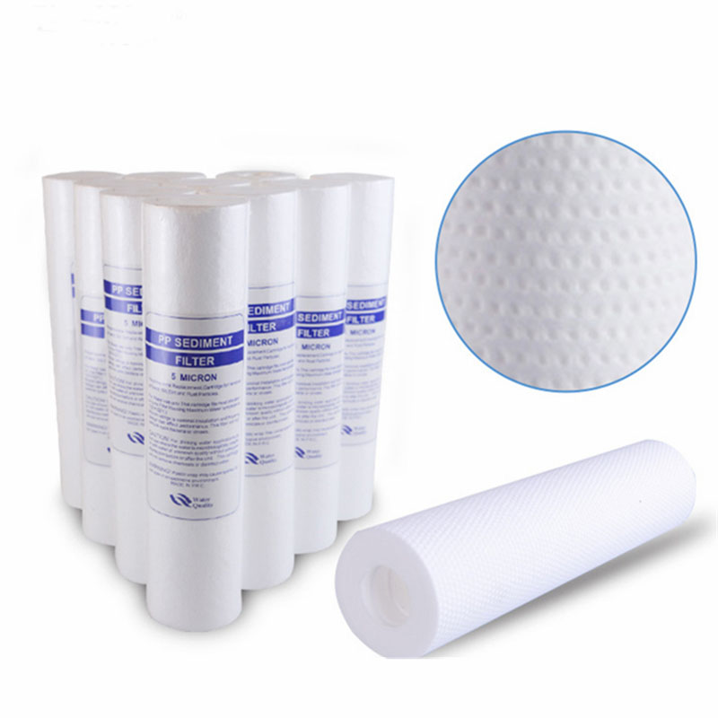 15pcs 1&5 Micron Pp Spun Polypropylene Sediment Water Filter Replacement Cartridge Reverse Osmosis 10 Inch Pp Cotton Filter 100g