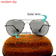 2017 High-quality Fashion reading glasses Presbyopia sun men and women of the new can read enlarge Bifocal