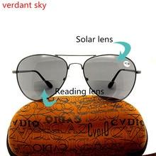 2019 High-quality Fashion reading glasses Presbyopia Brand multi focal glasses Brown sun glasses Presbyopic oculos +1.5 to +3.0