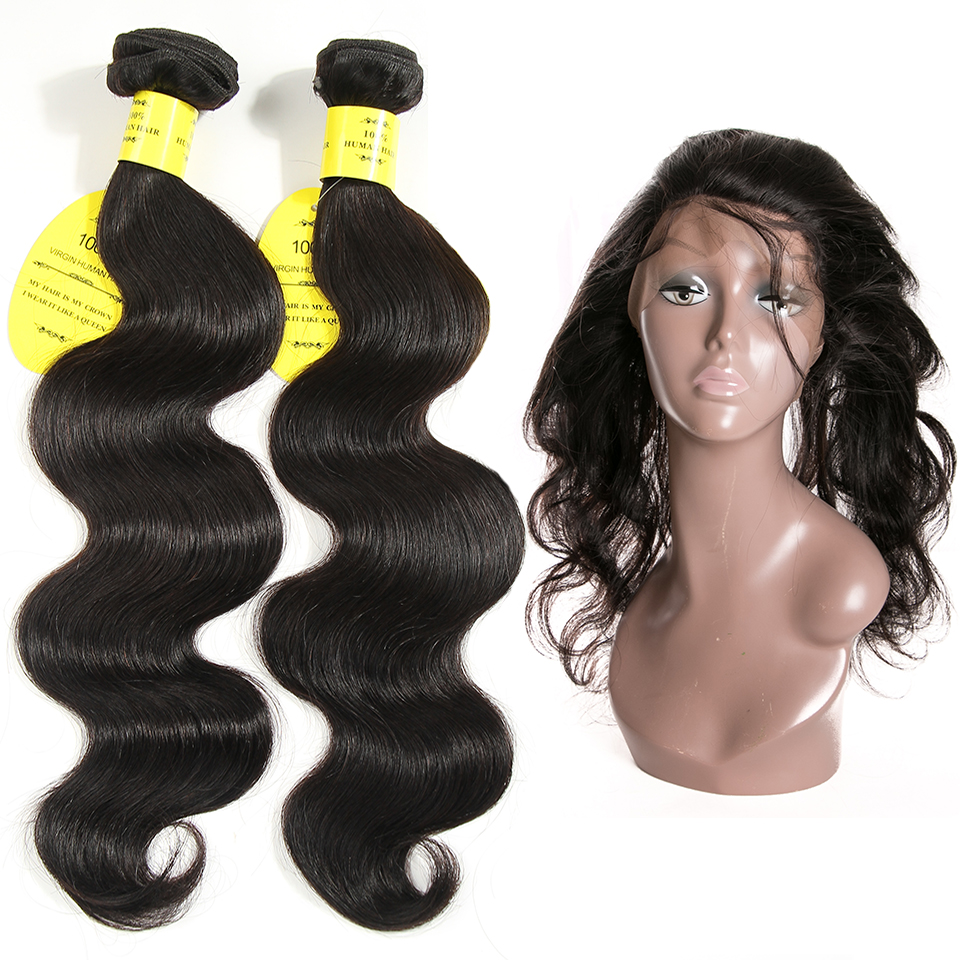 QueenLike Hair Products Brazilian Hair Weave Bundles Non Remy 2 3 Body Wave Bundles With Closure