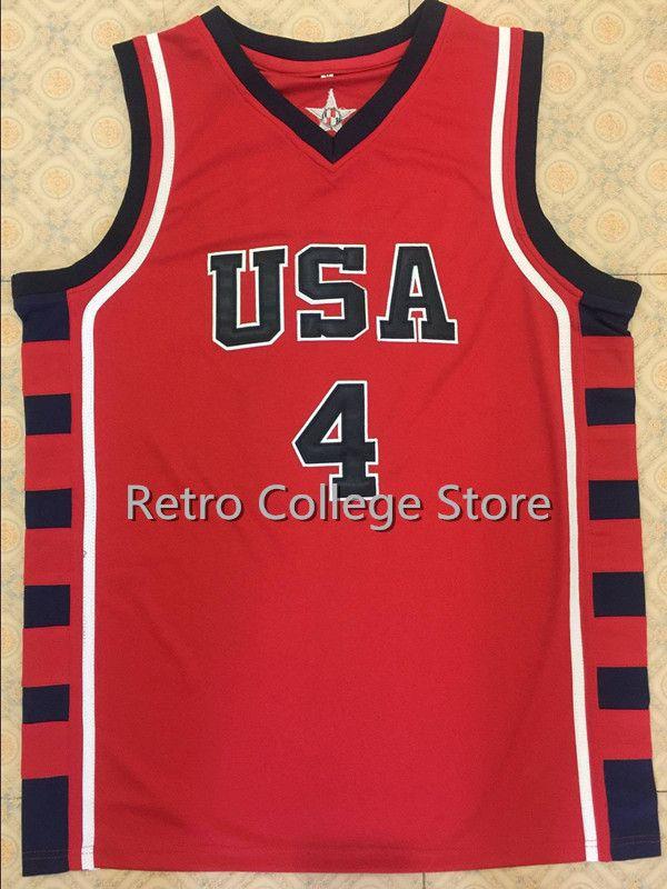 #8 Кармело Энтони #4 Аллен Айверсон #12 стадемайр команды США Баскетбол Джерси Винс Картер, Ретро Для мужчин; Возврат вышивать