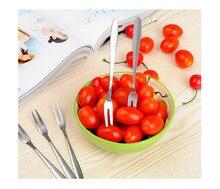 200 PCS/set Stainless Steel Fruit Fork Cutlery Dessert Fruit Forks For Restaurant Cafeteria Home Flatware For Fruit Salad 13cm
