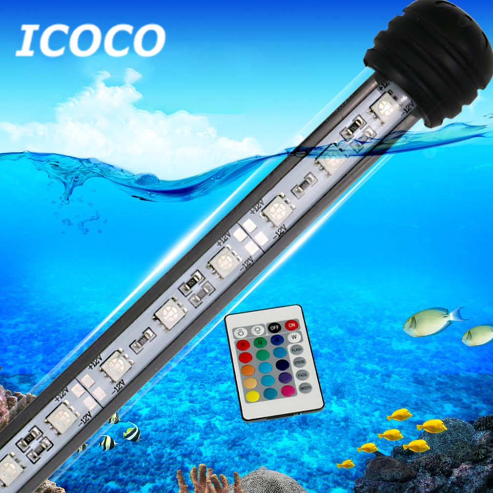 Genteel Icoco 18cm Waterproof Aquarium Light 5050smd Rgb Led Aquarium Fish Tank Submersible Light Lamp With Remote Control Sale Orders Are Welcome. Lights & Lighting Led Lamps