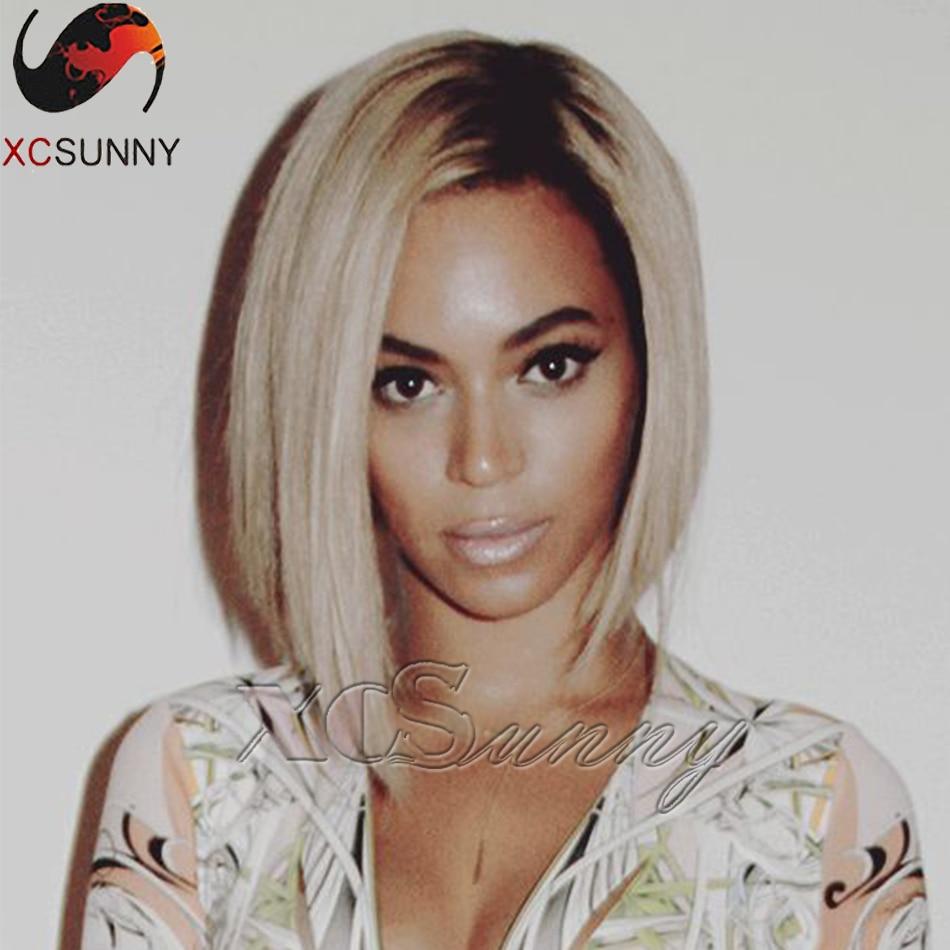 8A brazilian virgin hair Beyonce ombre human hair Bob wig 1bT613 best human hair wigs full