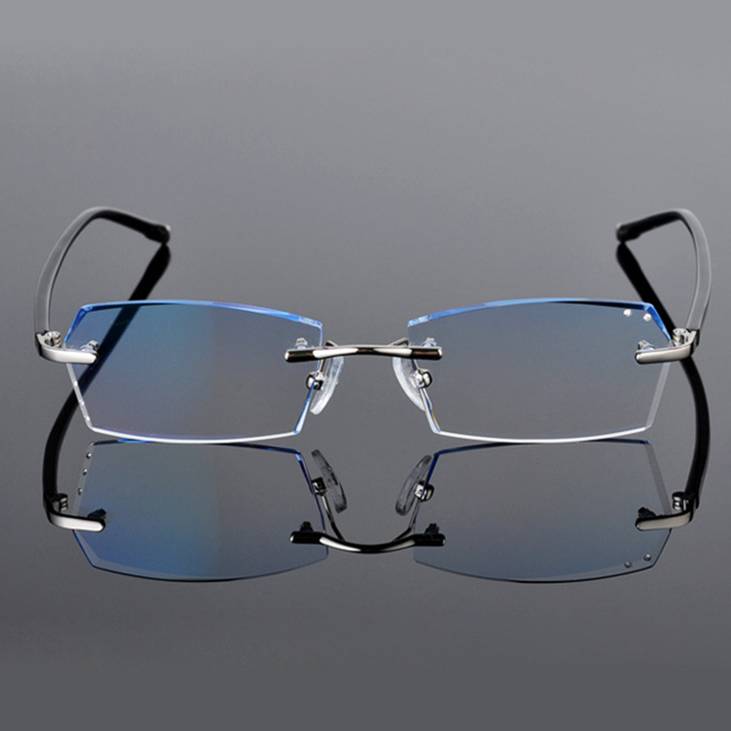 11511f13a49 Fashion Glasses with Clear Lenses Reading Glasses Men Diopter Nerd Rimless  Eye Glasses Myopia Prescription Glasses Online 612-in Prescription Glasses  from ...