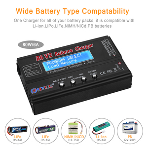 Image 3 - HTRC Balance Charger Imax B6v2 80W 6A LiPo Battery Charger 15V 6A AC For LiIon/LiFe/NiCd/NiMH/High/LiHV RC Charger Discharger