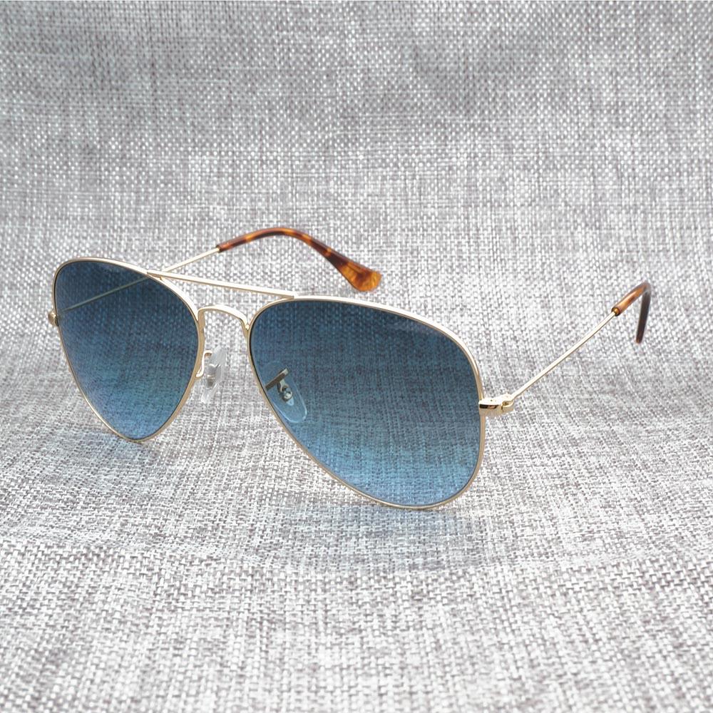 Vintage Aviator Sunglasses Men Shades Mirror Sunglasses Men Metal Glasses Design Glasses Frame for Women Christmas Gift 3025RB