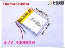 Li-ion para Dvr o Envio Gratuito de Bateria de Polímero 400 Mah 3.7 V 403439 Casa Inteligente Mp3 Alto-falantes Li-ion Bateria para Dvr Gps Mp3 Mp4 Telefone Celular Celular Speaker