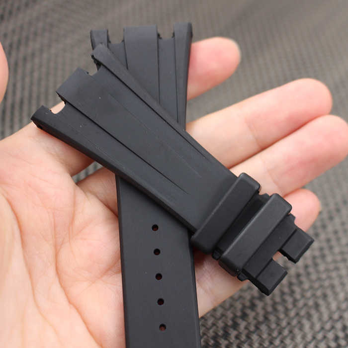 4958d336c60 ... Black Silicone Rubber watch strap bracelet wristband sport watch band  26mm 28mm watchband for ap watches