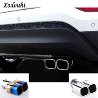 For Hyundai Tucson 2015 2016 2017 2018 car cover muffler exterior end pipe outlet dedicate stainless steel exhaust tip tail 1pcs