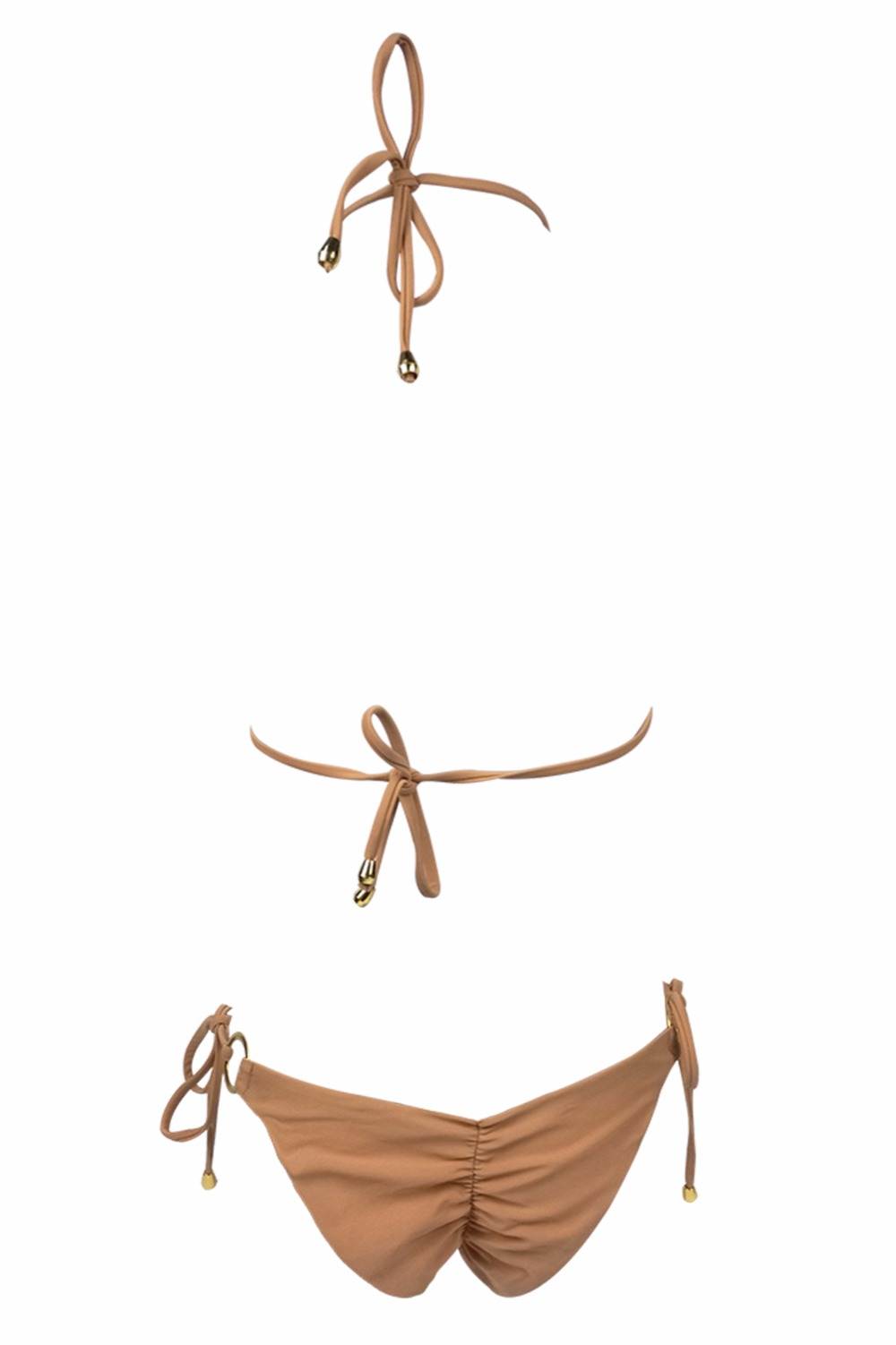 2019 Hot Sell Bikini Set Women Sexy Low Waist Bathing Suit Simple Sequins Beach Brazilian Swimsuit Halter Bandage Swimwear