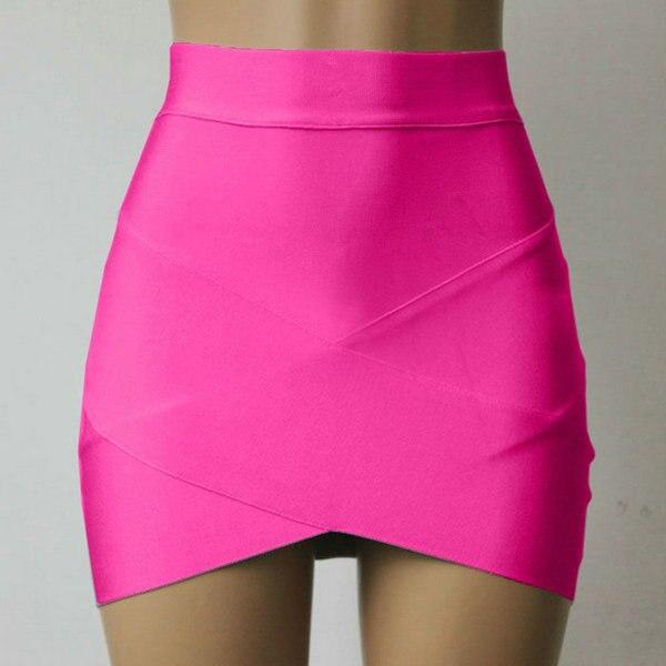 5fbb95722e 2019 New Fashion Women Stretch Skirt Cross Irregular Hem Solid Skirt Fitted  Mini Skirts Slim Skirts Hot