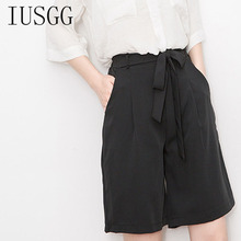 Hot Fashion Women Lady Sweet Shorts Summer Casual Shorts High Waist Short Sashes Bow Drawstring Solid Vintage Shorts Trousers 2019 new women summer fashion basic black skinny shorts high waist slim stretchy shorts lady casual active sports short trousers
