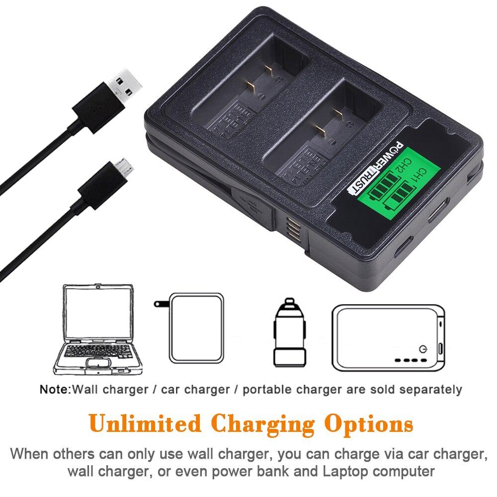 Image 3 - 2x 1500mAh EN EL14 EN EL14 EN EL14a Battery + LCD Dual Charger for Nikon P7800,P7100,D3400,D5500,D5300,D5200,D3200,D3300,MH 24-in Digital Batteries from Consumer Electronics