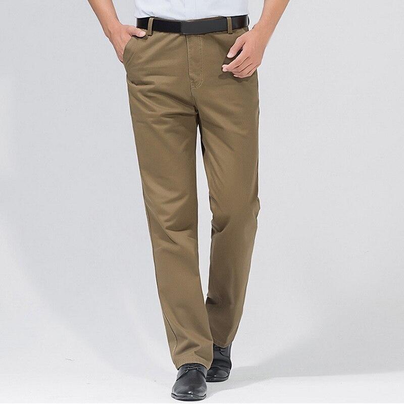 SHUJIN PuimentiuaAutumn Solid Loose Straight Men's Casual Pants Long Trousers  Waist Pants Men Plus Size Cotton Pantolon Erkek