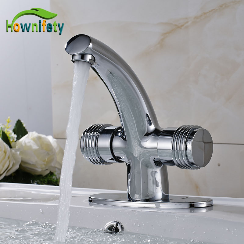 Chrome Solid Brass Bathroom Basin Faucet Double Handle Mixer Tap with Cover Plate golden solid brass bathroom sink faucet single handle mixer tap basin faucet with cover plate