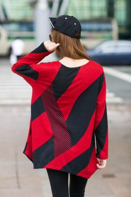 Autumn Plus Size Long Sleeve Irregular hem Loose T Shirts 2018 Autumn Lagenlook Crew Neck  Shirts Casual Loose Tops T-Shirts Tee 2