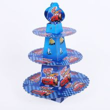 1pcs/set DISNEY Lightning Mcqueen Shower Cartoon Kids Birthday Party Decoration Supplies Cardboard Cupcake Stand 24 Cupcakes