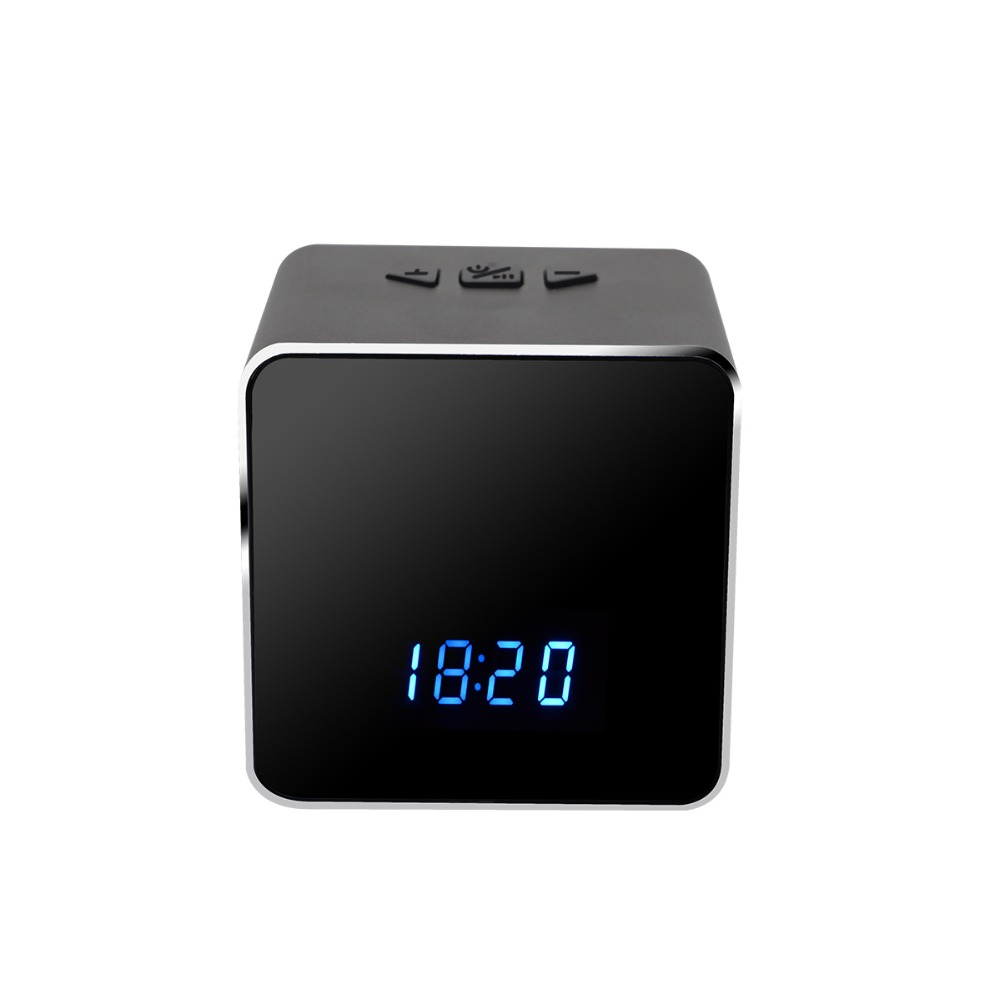 Wireless Wifi Desk Clock Portable Mini IP Camera Motion Detection Alarm Night Vision Bluetooth Speaker CCTV Home Security Camera