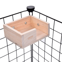 Suspension Hanging Wooden Hamster Lookout Platform small pet house squirrel toy Guinea pig Chinchilla ferret rabbit stage supply